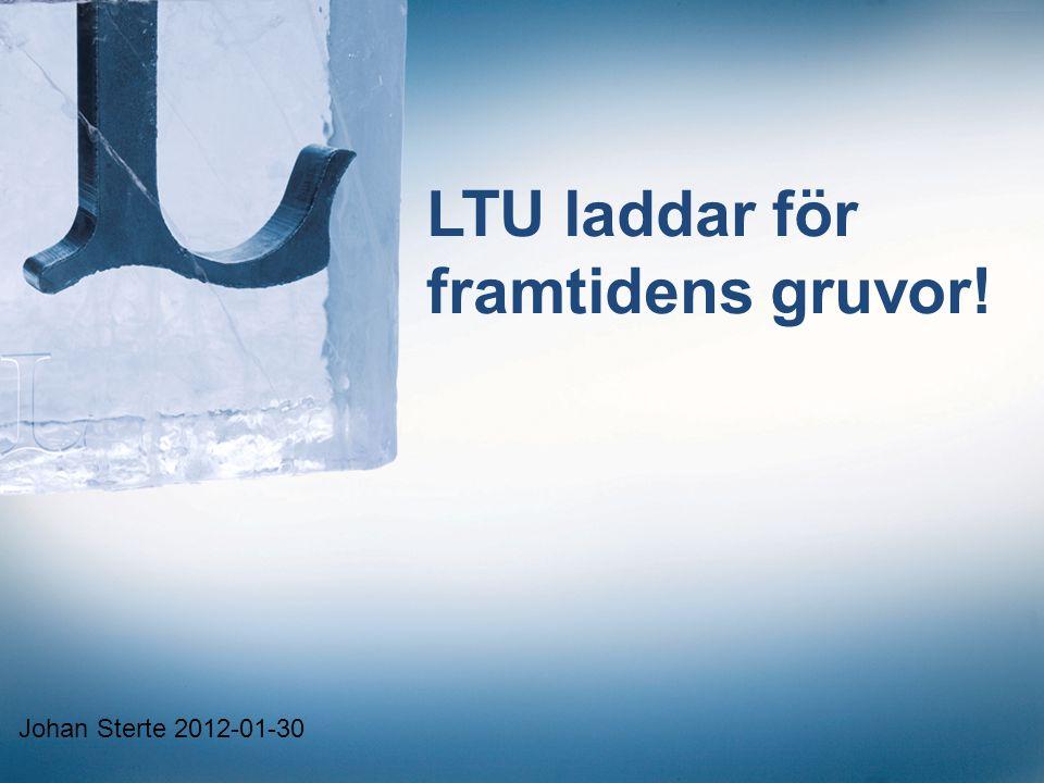 LTU laddar för framtidens gruvor! Johan Sterte 2012-01-30