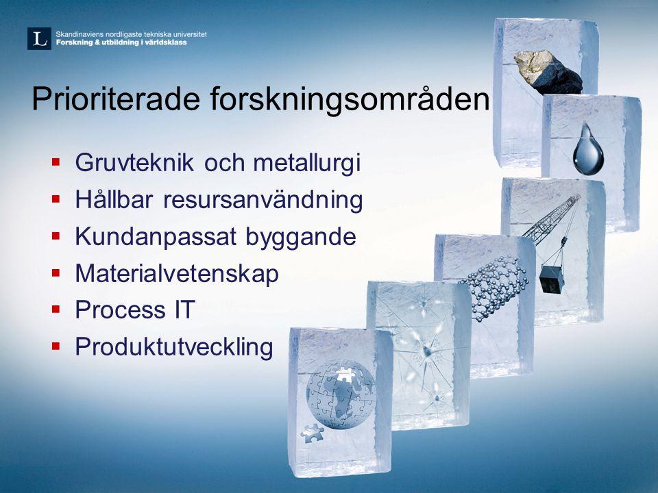 EIT KICs inom råvaror •Svenskt initiativ startat, ambition att ta lead •Första möte med Europeiska core partners på Arlanda 16/1 –30 personer, 19 organisationer, 5 länder •LTU, Mefos, Boliden, LKAB som koordinator Sverige: LTU Mefos Bergforsk RTC UU SGU Sandvik Finland: GTK, AaltoU OuluU Metso Outotec VTT Polen KGHM AGH CIT/Wroclaw Tyskland TuBaf Helmholz Institut Holland TNO