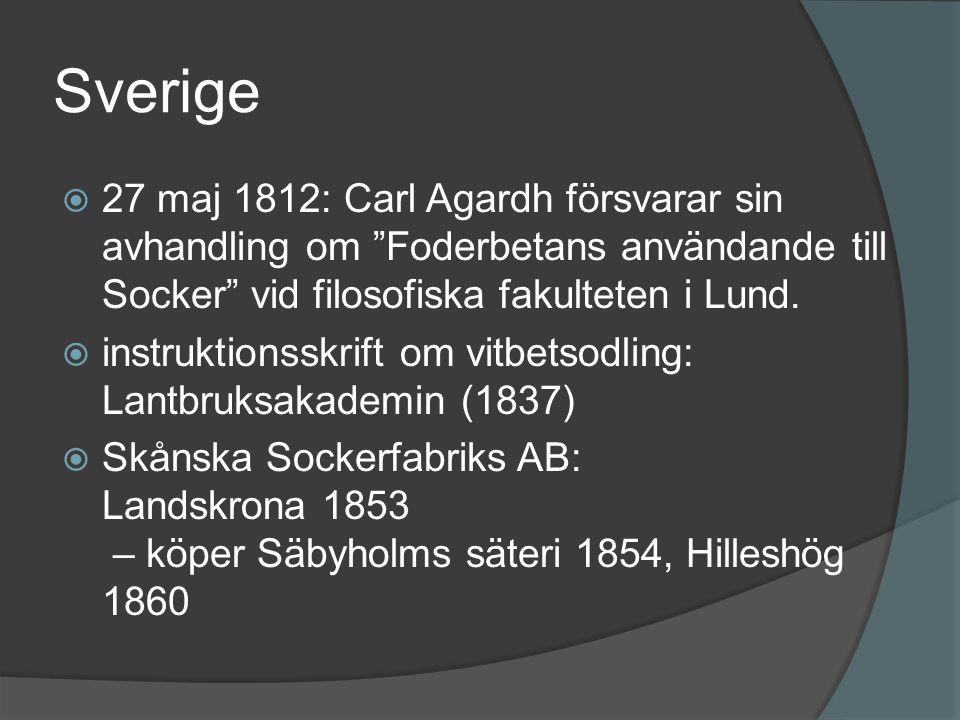 """Sverige  27 maj 1812: Carl Agardh försvarar sin avhandling om """"Foderbetans användande till Socker"""" vid filosofiska fakulteten i Lund.  instruktionss"""