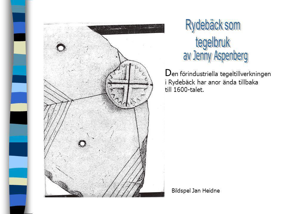 D en förindustriella tegeltillverkningen i Rydebäck har anor ända tillbaka till 1600-talet.