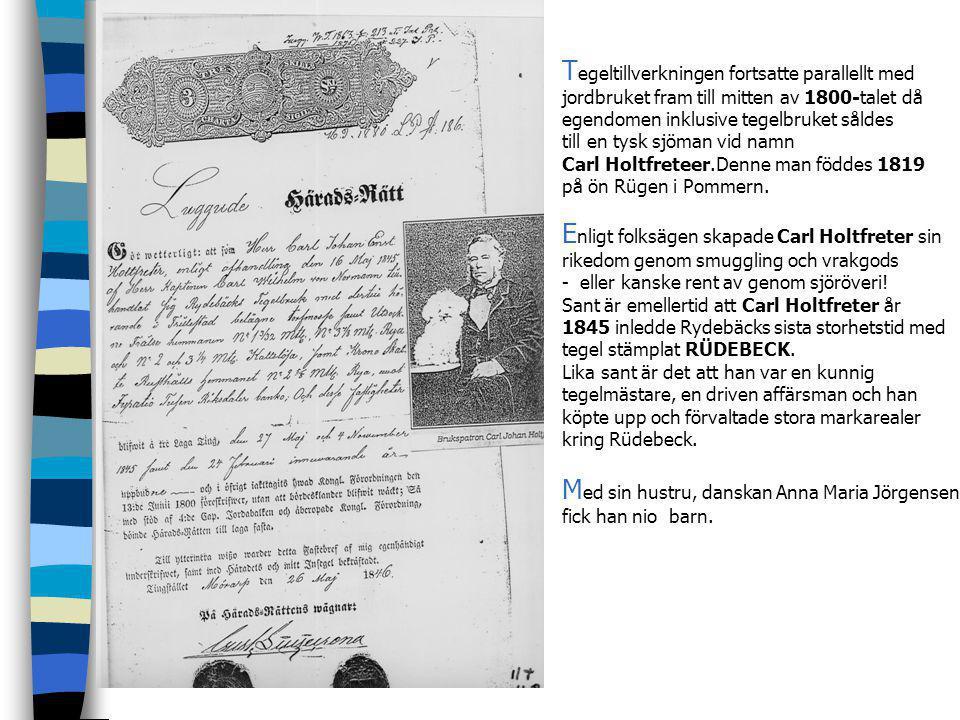 P å 1780-talet köpte dåvarande ägaren stora delar av Rya by. Rydebäck hette då Ryebeck. A rbetarna bodde i Rya och det var ett riktigt brukssamhälle.