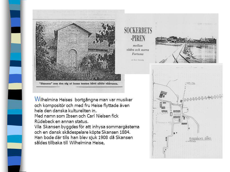 G uldåldern för Rüdebäcks tegelbruk var sedan länge över när Wilhelmina Heise, en ung driftig dansk societetsdam köpte gården. Hon blev änka innan han
