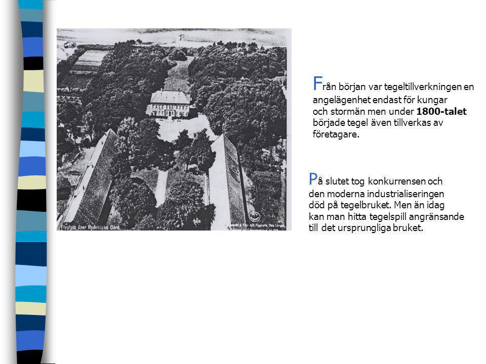 D en förindustriella tegeltillverkningen i Rydebäck har anor ända tillbaka till 1600-talet. Bildspel Jan Heidne