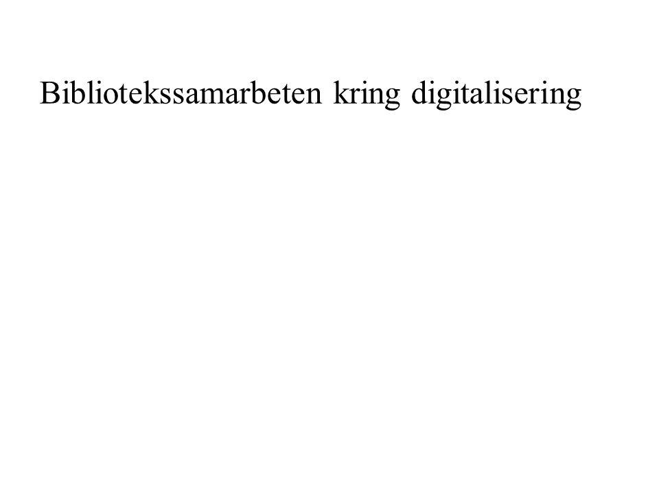 Bibliotekssamarbeten kring digitalisering