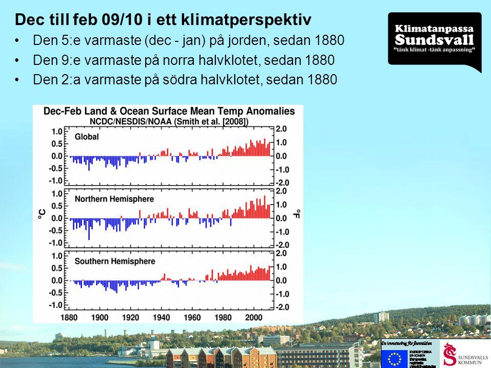 Delta Commissions (Holland) resultat om höjningar av havets nivå • 0,65 till 1,3 m till 2100 • 2,0 till 4,0 m till 2200 Omräknat till oss (med bland annat hänsyn till landhöjningen): • Från en någon decimeters sänkning till närmare 0,5 m höjning till 2100 • Från knappt 0,5 till drygt 2 m till 2200