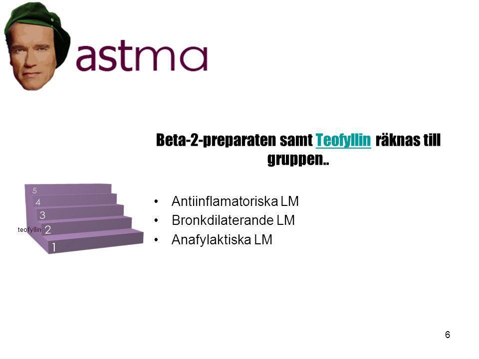 17 På vilken nivå bör man ge astmapatienten IpatropiumIpatropium