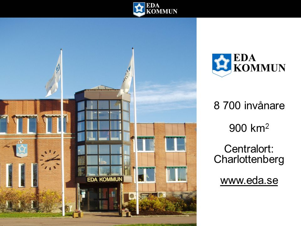 8 700 invånare 900 km 2 Centralort: Charlottenberg www.eda.se