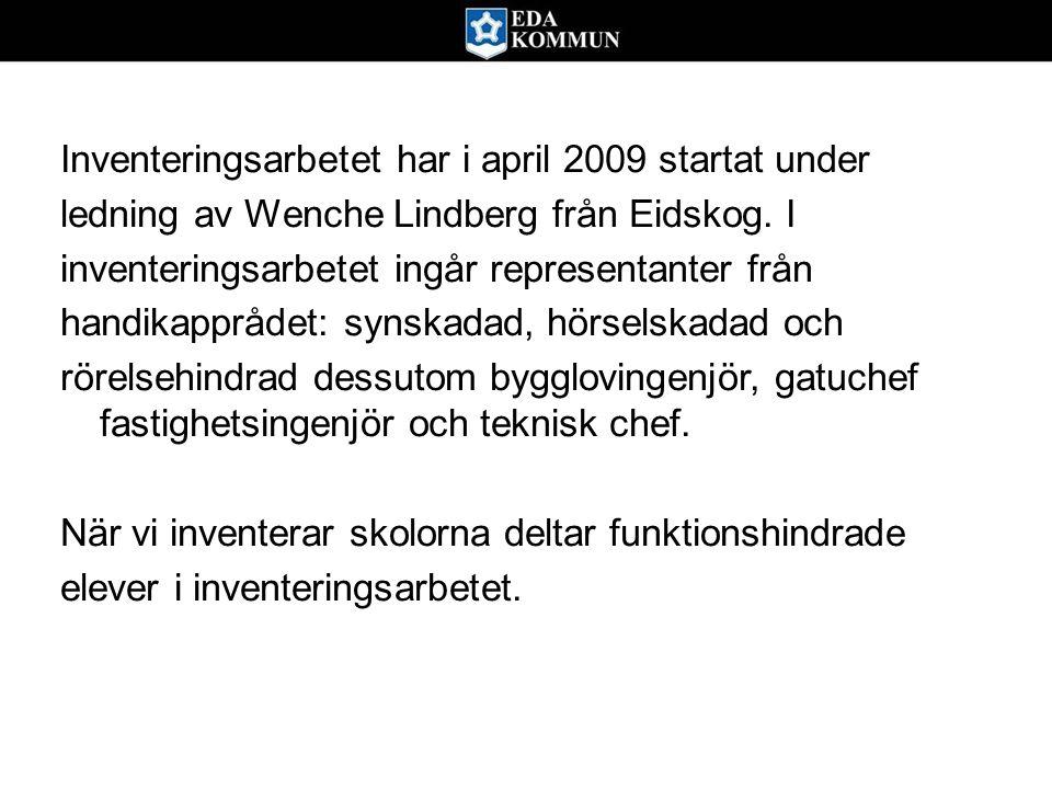 Inventeringsarbetet har i april 2009 startat under ledning av Wenche Lindberg från Eidskog. I inventeringsarbetet ingår representanter från handikappr