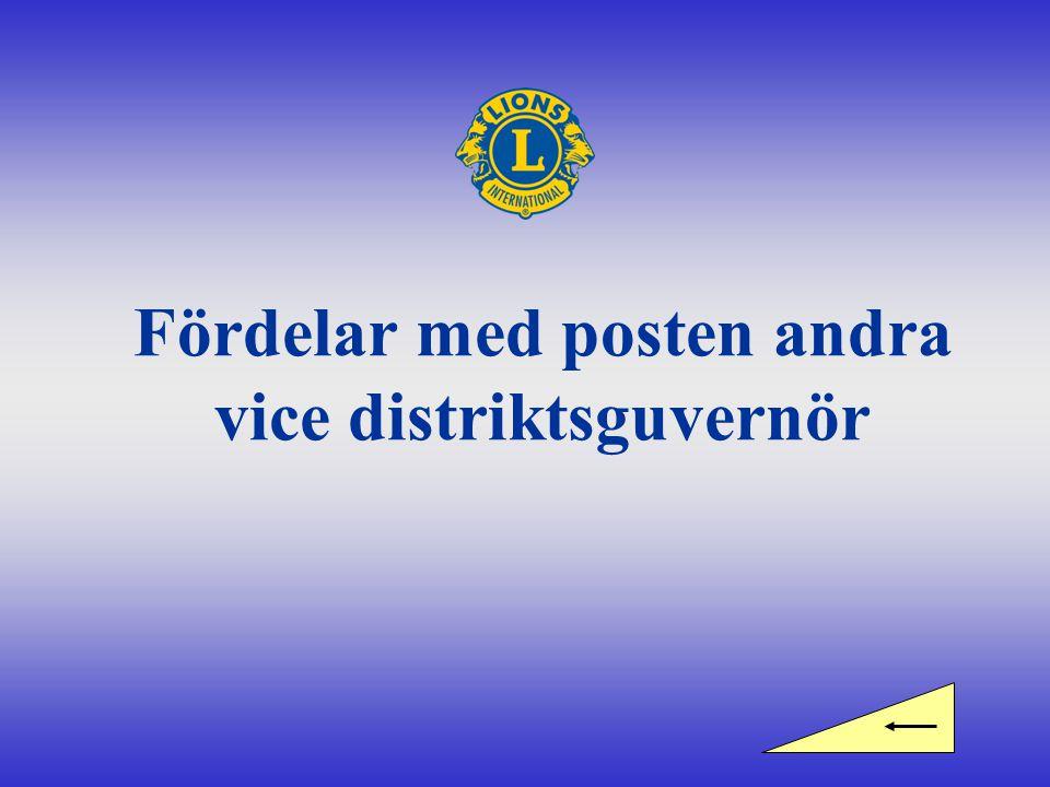 Fördelar med posten andra vice distriktsguvernör
