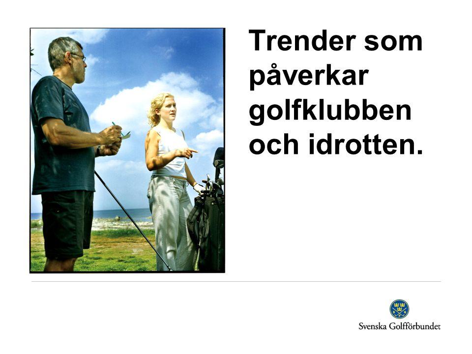 Trender som påverkar golfklubben och idrotten.