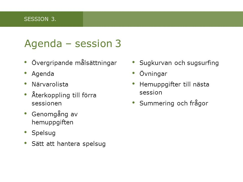 SESSION 3.