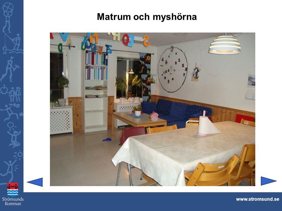 Matrum och myshörna www.stromsund.se