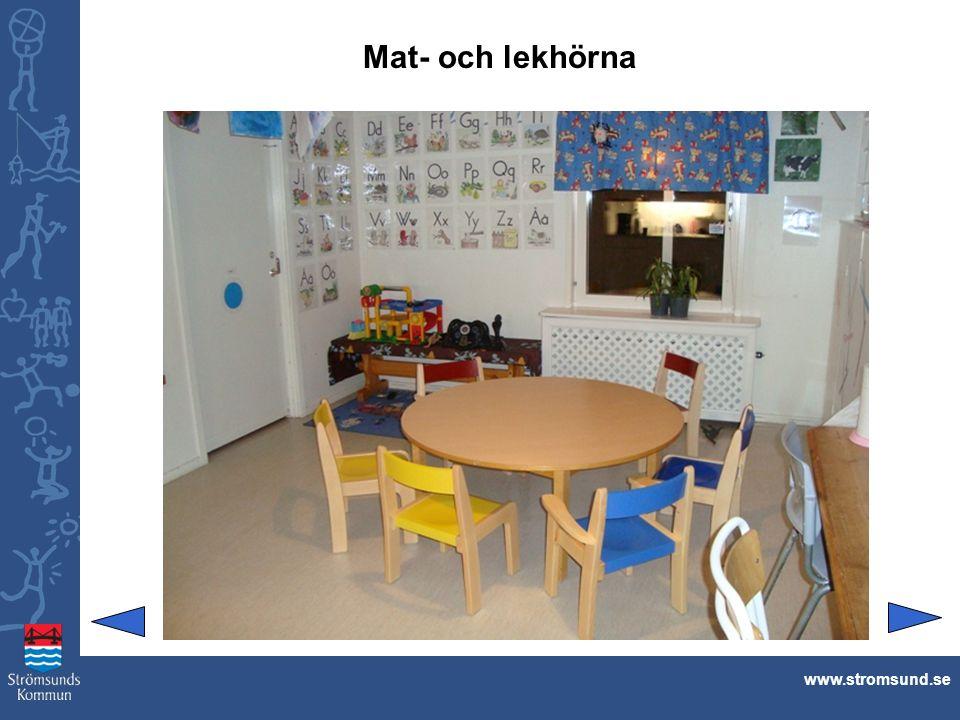 Mat- och lekhörna www.stromsund.se