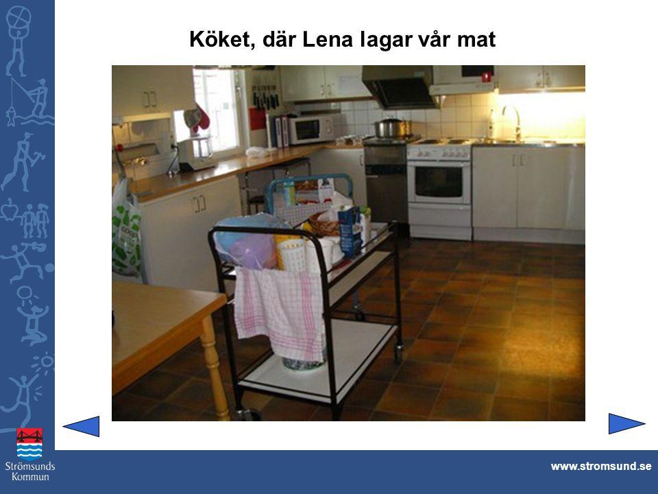 Köket, där Lena lagar vår mat www.stromsund.se