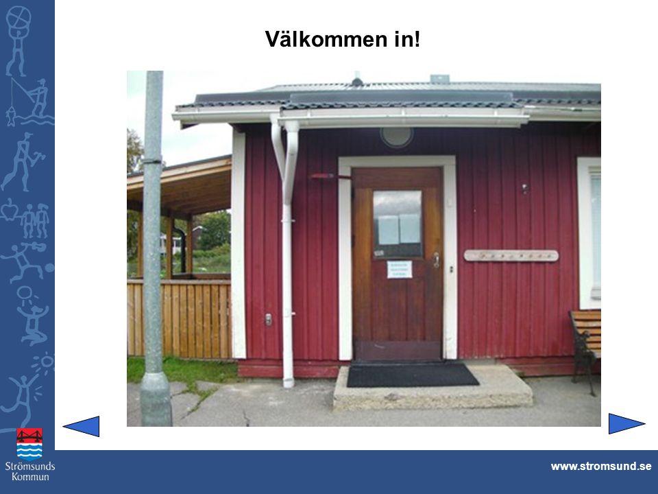 Den som här inträder, får snubbla över skor och kläder. www.stromsund.se
