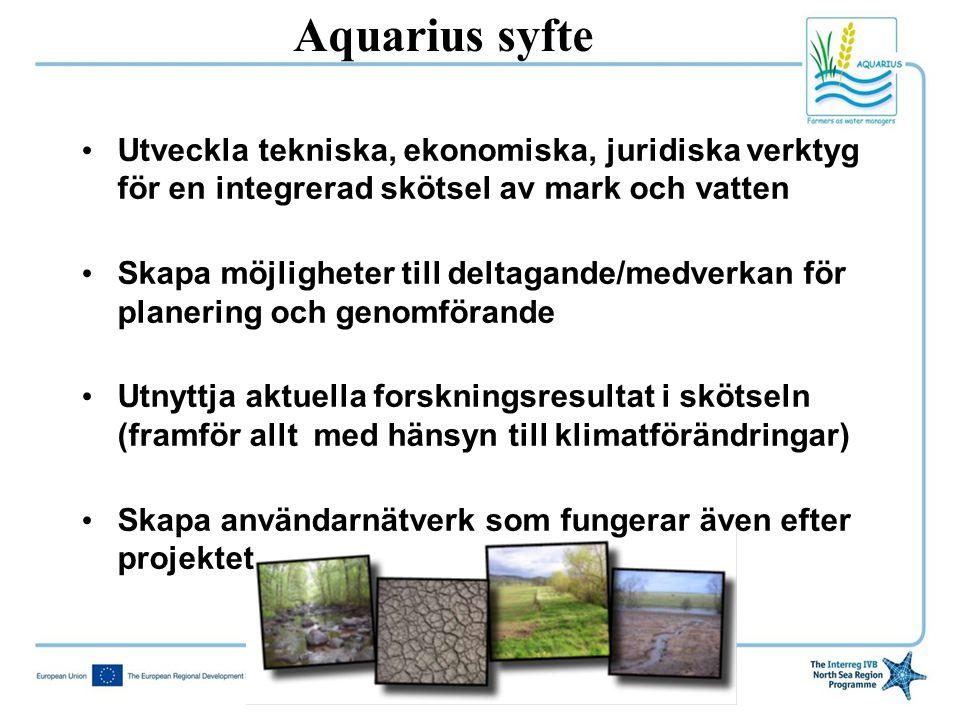 • Utveckla tekniska, ekonomiska, juridiska verktyg för en integrerad skötsel av mark och vatten • Skapa möjligheter till deltagande/medverkan för plan