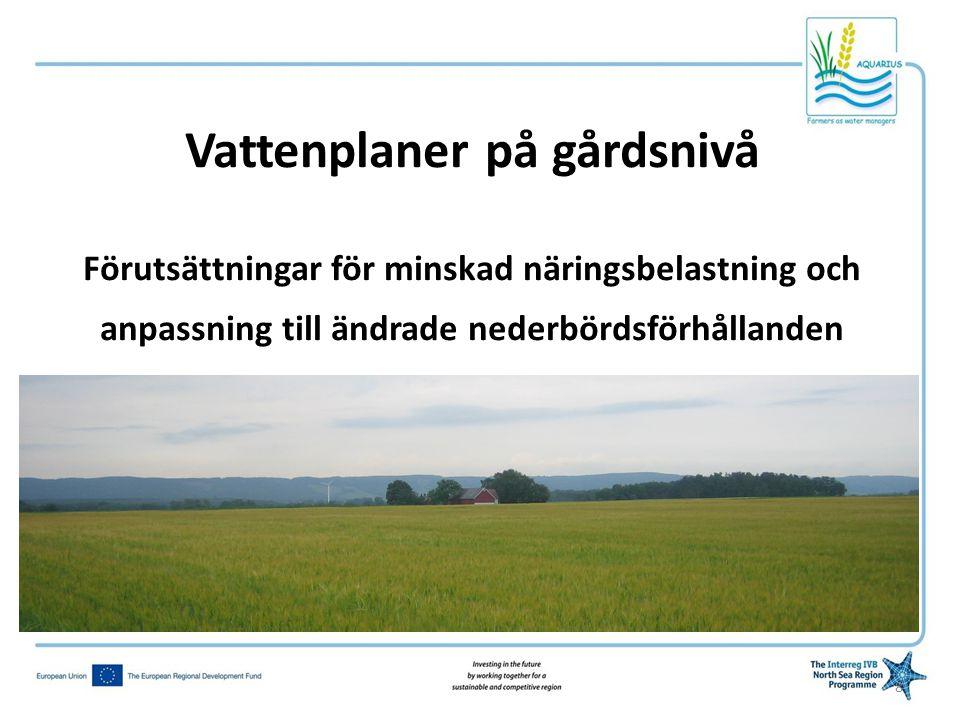 Pilotgårdar •Urvalskriterier: Slumpmässigt stratifierat urval av heltidsjordbruk –10 gårdar ( 9 deltog) –Medelstora och större gårdar –Olika produktionsinriktning –Typiska för södra Halland 9