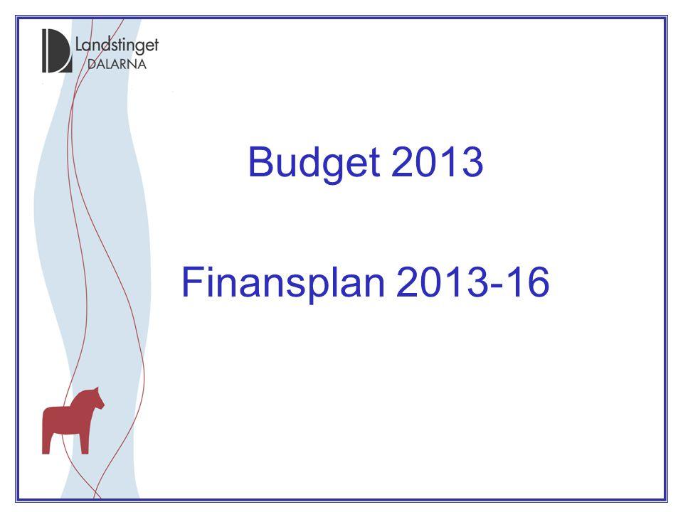 Budget 2013 •Ram för fördelning till C- FV/HoS via LS jan 2013, totalt 183 Mkr: •Central förvaltning –Ram för oförutsett, ökade kapitalkostnader samt för omställning –Ram för IT och e-hälsa