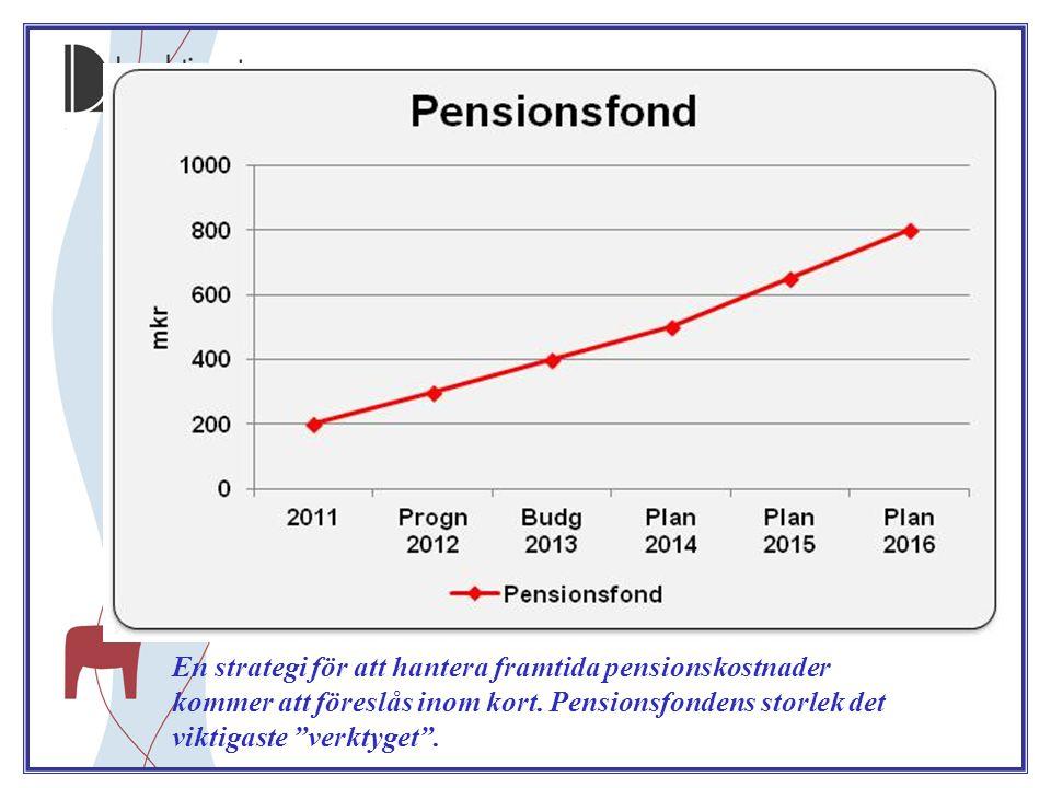 En strategi för att hantera framtida pensionskostnader kommer att föreslås inom kort.