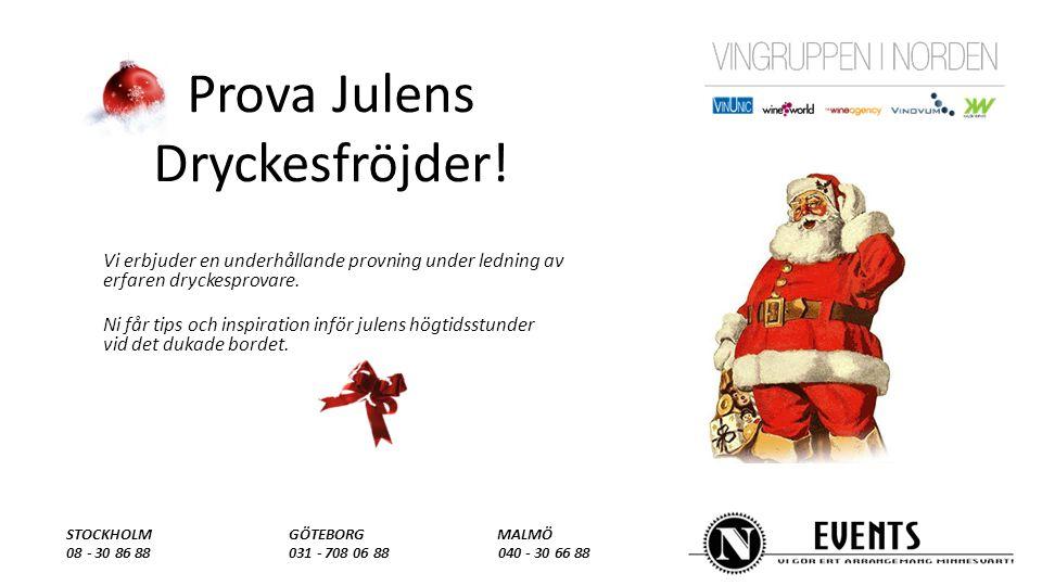 Prova Julens Dryckesfröjder.