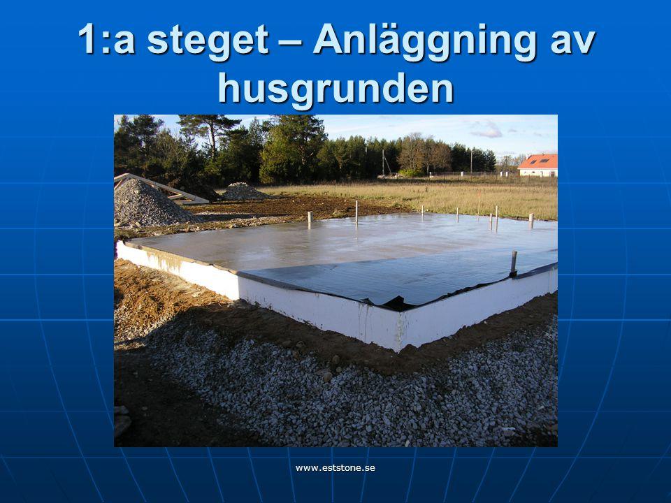 www.eststone.se 1:a steget – Anläggning av husgrunden