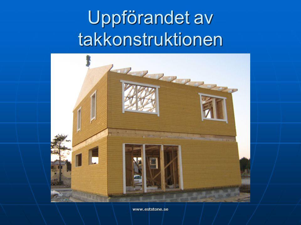 Uppförandet av takkonstruktionen