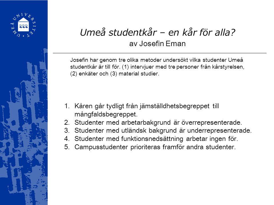 Umeå studentkår – en kår för alla.