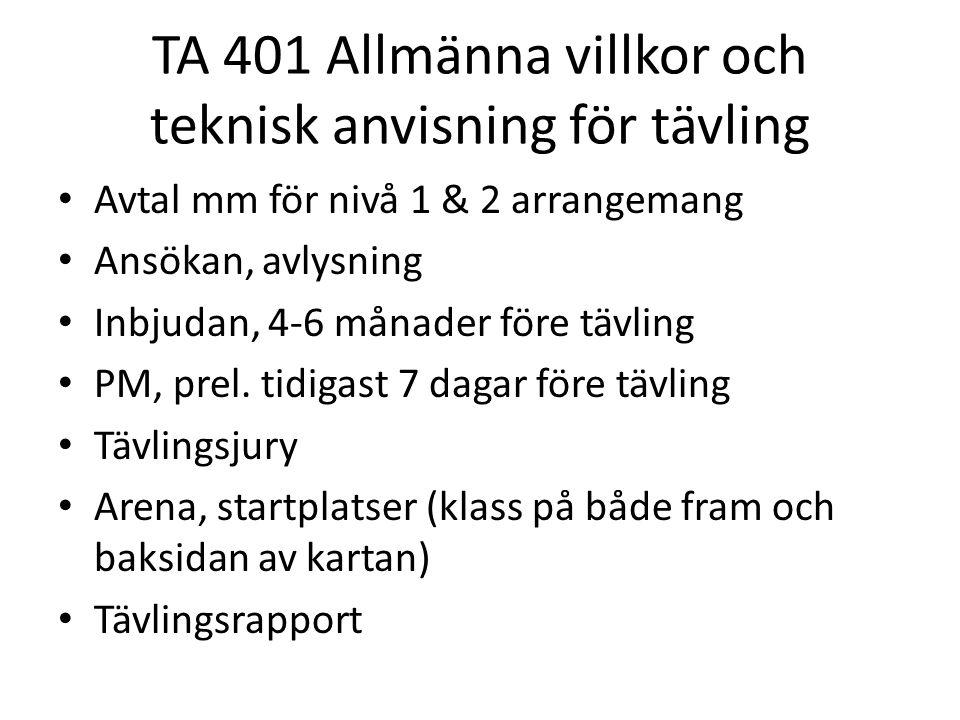 Digitala arrangörshandboken • Värt att veta dokument för – Tävlingsledning – Tävlingsadministration och teknik – Banläggning (inkl.