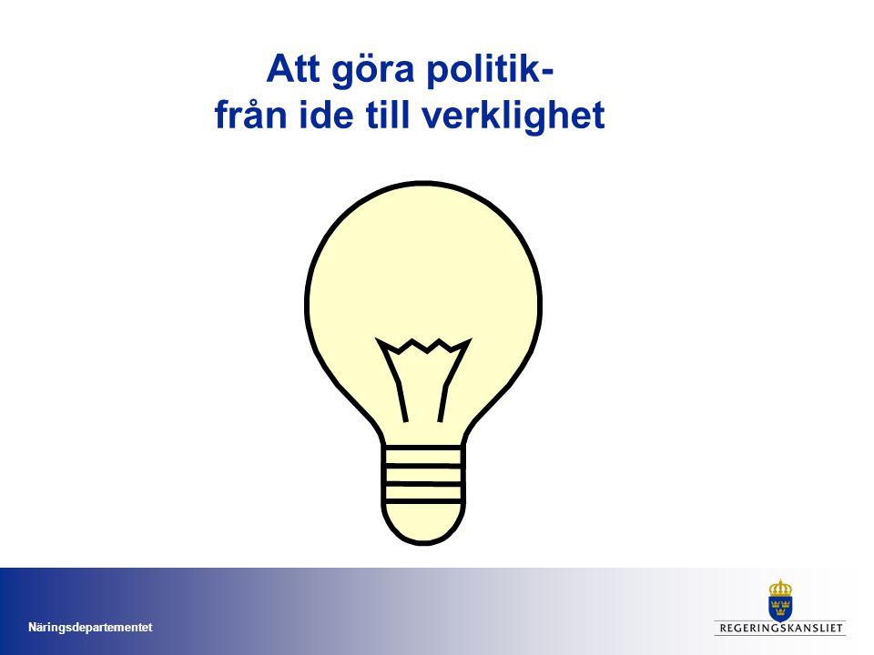 Näringsdepartementet Statsråd Maud Olofsson Näringsminister, departementschef och vice statsminister Åsa Torstensson Infrastrukturminister