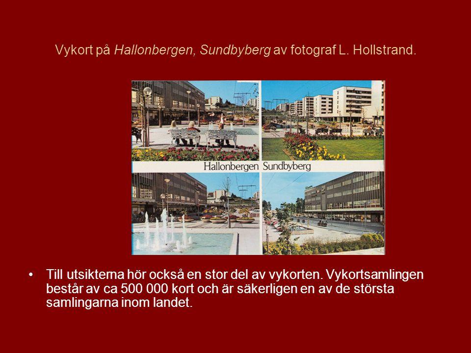 Vykort på Hallonbergen, Sundbyberg av fotograf L.Hollstrand.