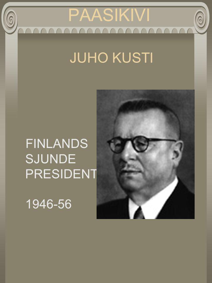 PAASIKIVI JUHO KUSTI FINLANDS SJUNDE PRESIDENT 1946-56