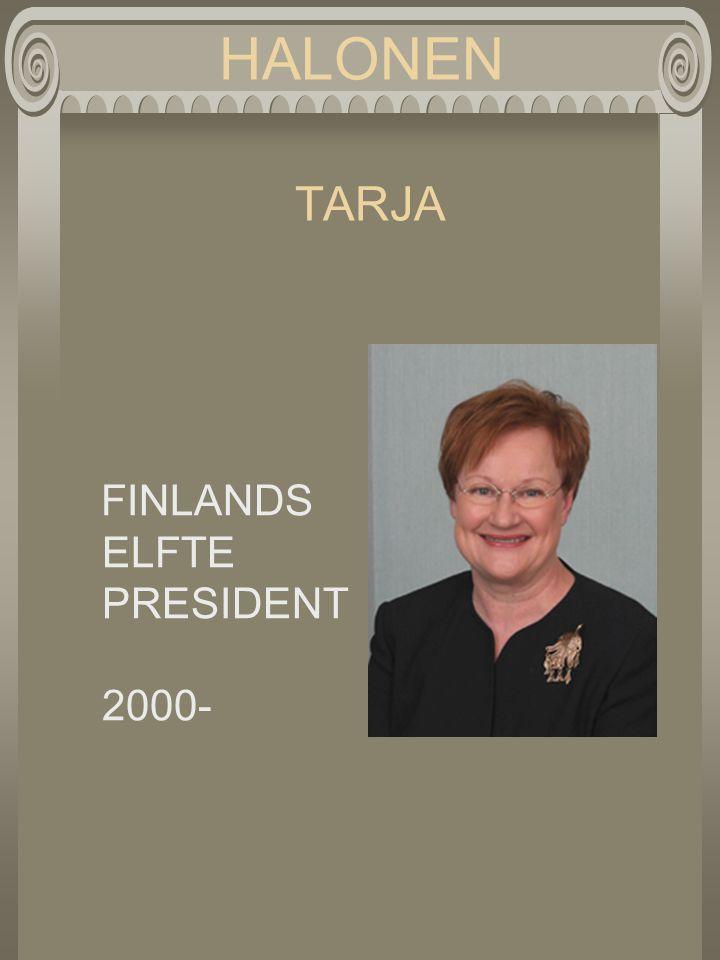HALONEN TARJA FINLANDS ELFTE PRESIDENT 2000-