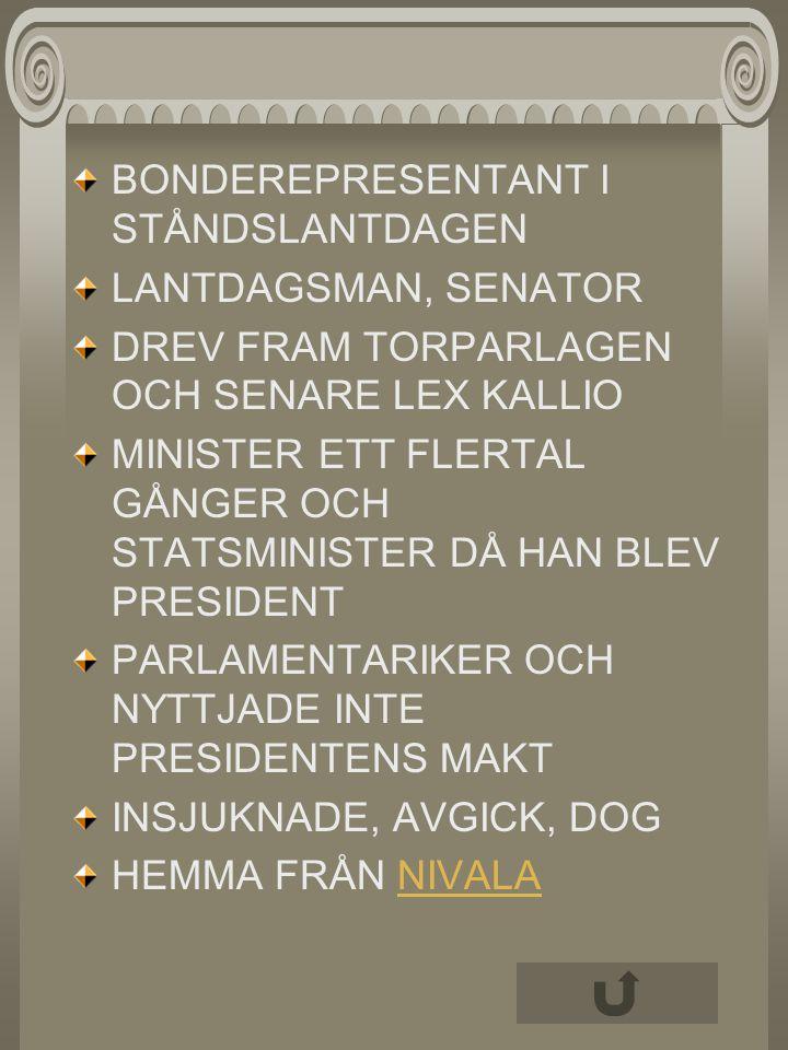 AHTISAARI MARTTI FINLANDS TIONDE PRESIDENT 1994-2000