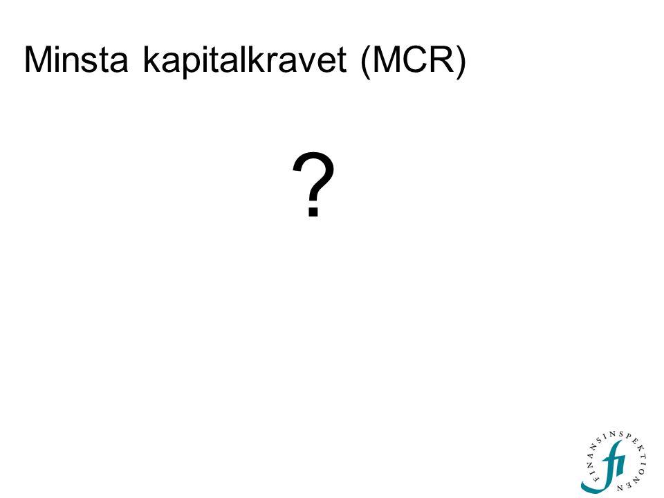 Minsta kapitalkravet (MCR) ?