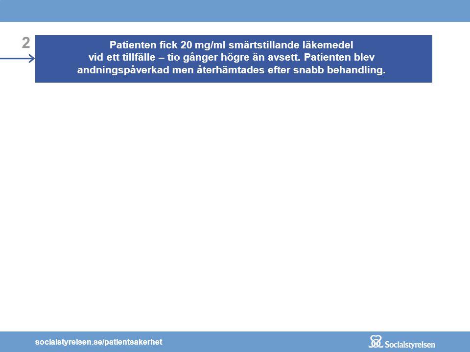 socialstyrelsen.se/patientsakerhet KOMMUNIKATION OCH INFORMATION: Sjuksköterskan skrev avgränsaren som en punkt istället för ett kommatecken.