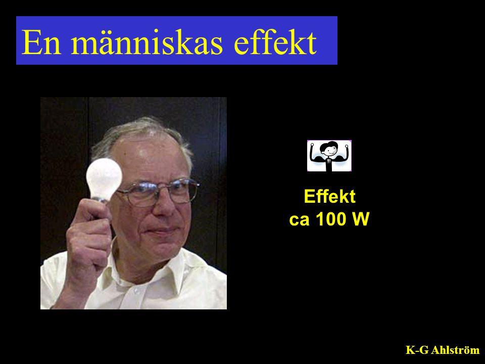 En människas effekt Effekt ca 100 W K-G Ahlström