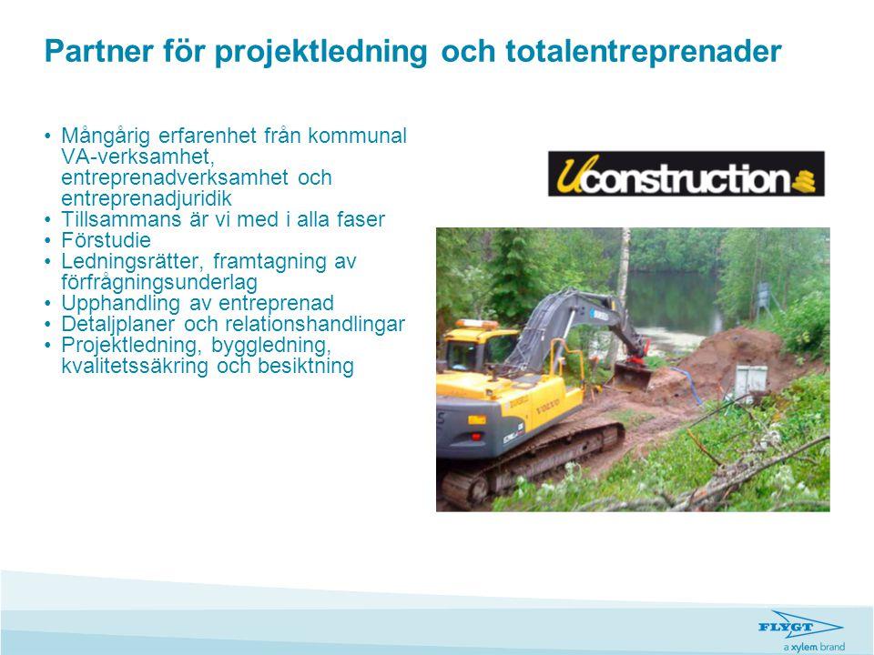 Partner för projektledning och totalentreprenader •Mångårig erfarenhet från kommunal VA-verksamhet, entreprenadverksamhet och entreprenadjuridik •Till