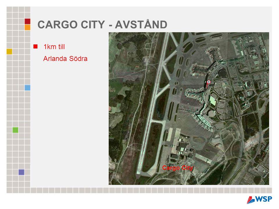 CARGO CITY - AVSTÅND  1km till Arlanda Södra Cargo City