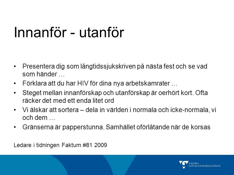 Förslag och beslut, dec 2008 Socialt ansvarstagande •Västra Götalandsregionen - ledande när det gäller praktik/arbete för personer med funktionsnedsättning •Chefer och handläggare - goda kunskaper om funktionshinder •Utveckla rehabiliteringsprocessen för redan anställda Samverkansavtal Västra Götalandsregionen, FK och AF Projektet Arbetsmarknadsnoder •Fyra samordningstjänster •Särskilda medel