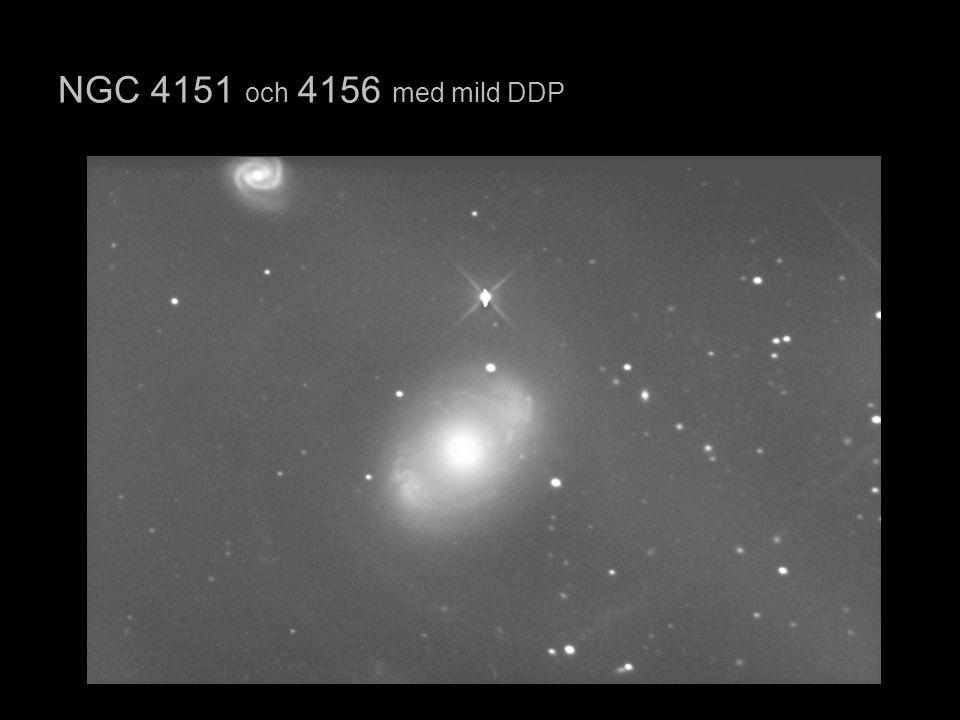 NGC 4151 och 4156 med mild DDP