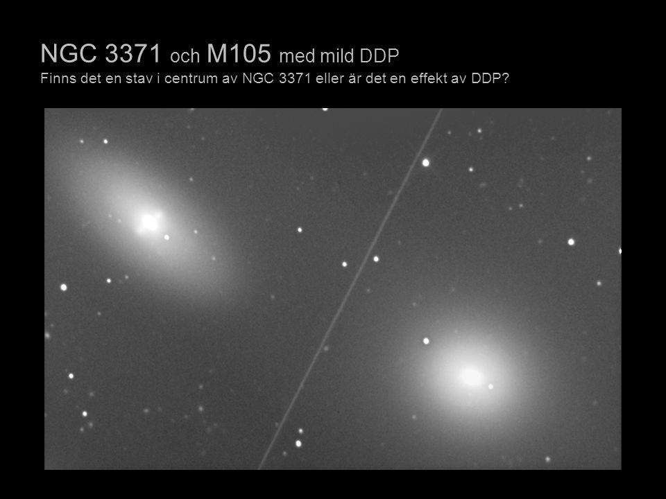 NGC 3371 och M105 med mild DDP Finns det en stav i centrum av NGC 3371 eller är det en effekt av DDP?