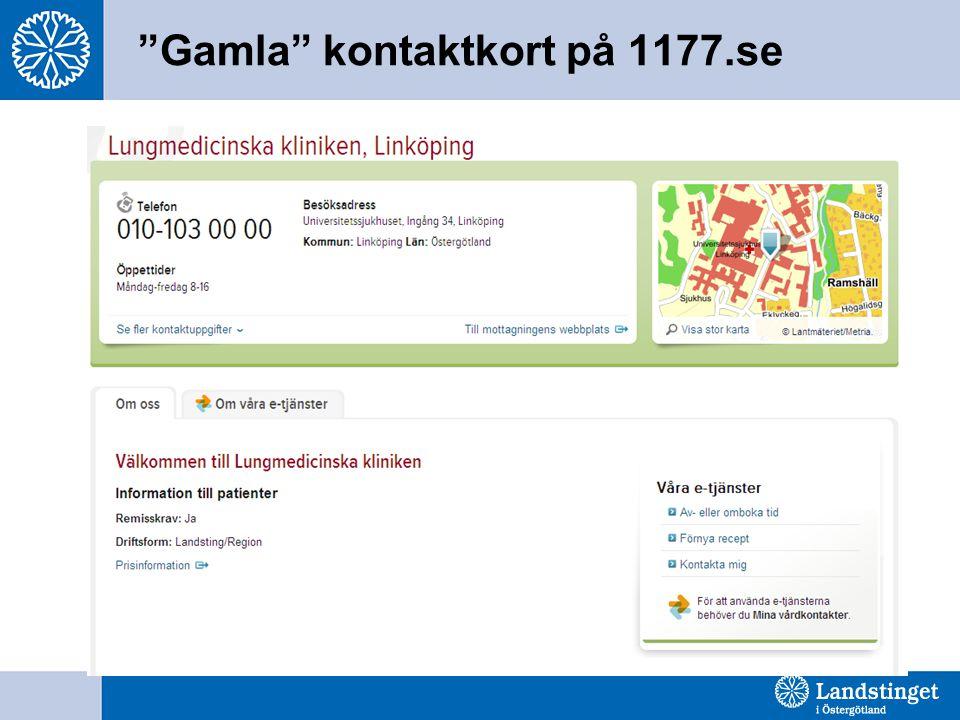 """Gamla"" kontaktkort på 1177.se"