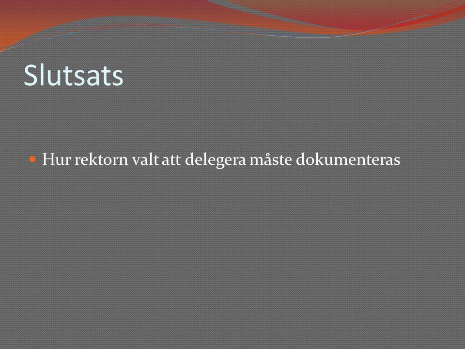 Delegation enligt kommunallagen  6 kap.