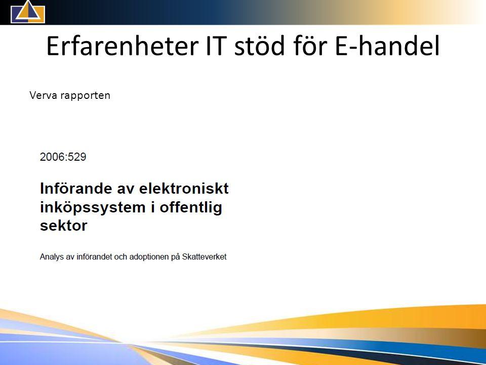 Erfarenheter IT stöd för E-handel Verva rapporten