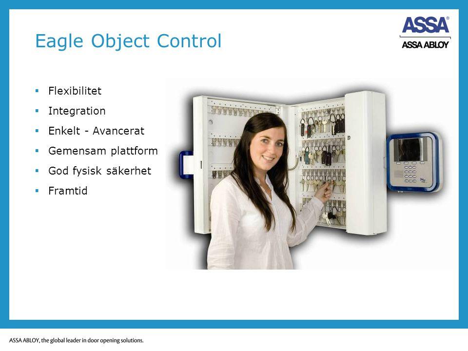 Eagle Object Control  Flexibilitet  Integration  Enkelt - Avancerat  Gemensam plattform  God fysisk säkerhet  Framtid