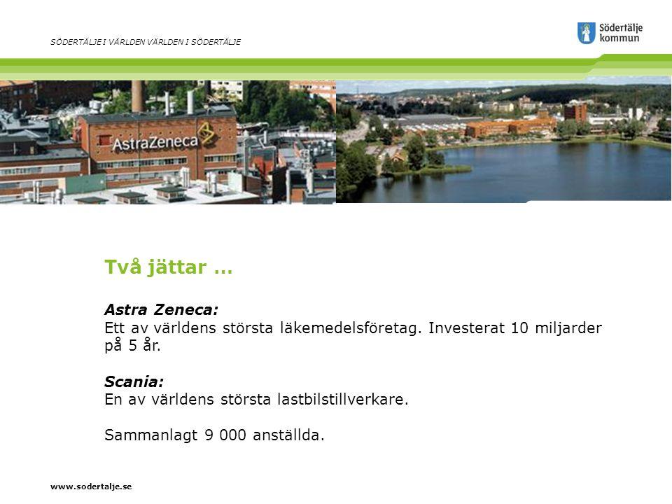 www.sodertalje.se SÖDERTÄLJE I VÄRLDEN VÄRLDEN I SÖDERTÄLJE … och tusentals småföretag 6 000 företag En av regionens starkaste arbetsmarknader Stora utvecklingsmöjligheter