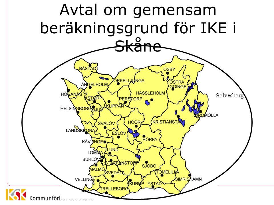 Avtal om gemensam beräkningsgrund för IKE i Skåne Sölvesborg
