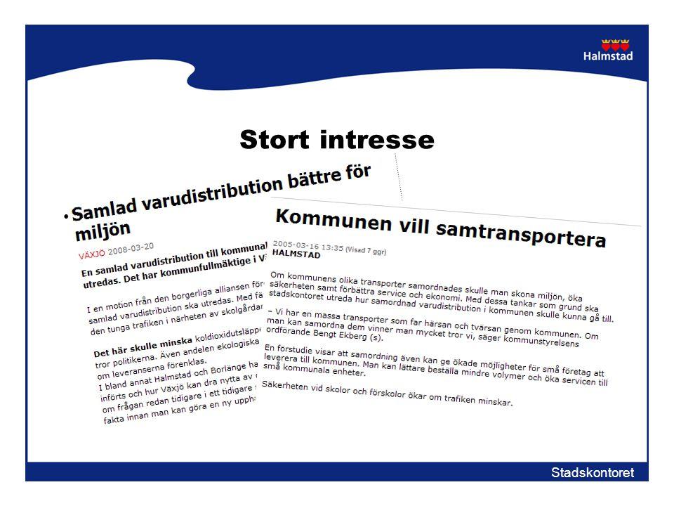 Stadskontoret Varför ny distributionslösning.