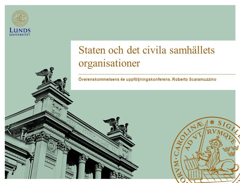 Staten och det civila samhällets organisationer Överenskommelsens 4e uppföljningskonferens.