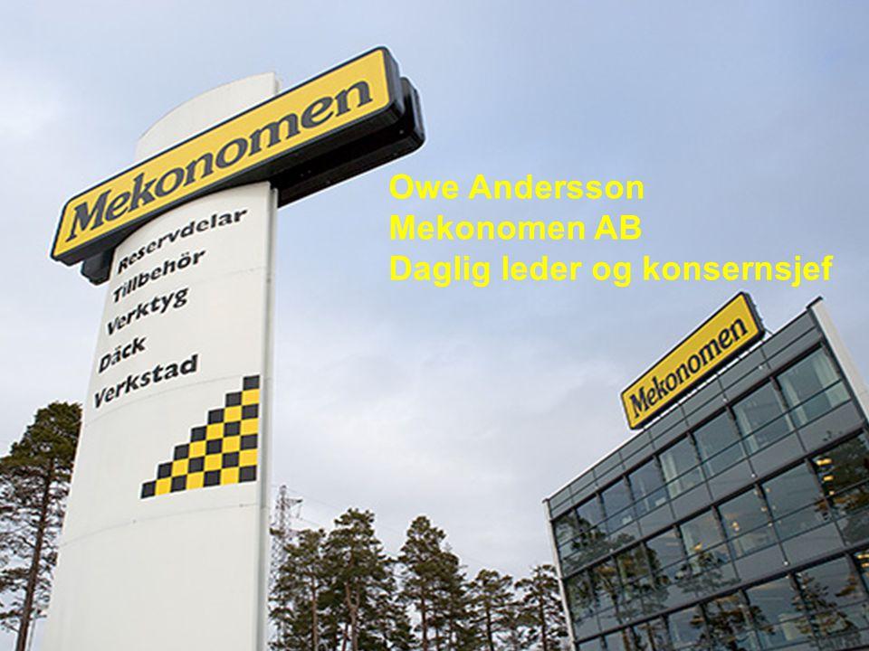 Owe Andersson Mekonomen AB Daglig leder og konsernsjef